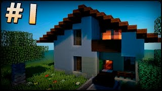 Как построить красивый дом в Minecraft #1