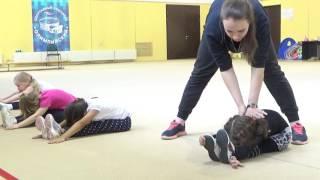 getlinkyoutube.com-Офп, гимнастика, растяжка #фигуристы дети первый год обучения #miss Kate Gymnastic. Figure skater. 2