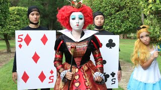 getlinkyoutube.com-Tim burton 'Queen of Hearts' Makeup Tutorial ♥♥♥