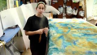 getlinkyoutube.com-Making Nuno Felt Fabric
