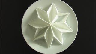 getlinkyoutube.com-plier une serviette en poinsettia! origami  fold napkins