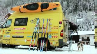 getlinkyoutube.com-Wintercamping KAUNERTAL (1) 2013 - Clip 1: Schlitternd über den FERNPASS ins verschneite KAUNERTAL