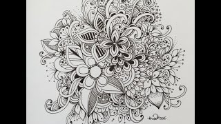 getlinkyoutube.com-zendoodle art journal entry  - slow doodle