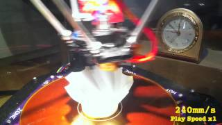 getlinkyoutube.com-Delta 3D printer's high speed print test up to 350mm/s