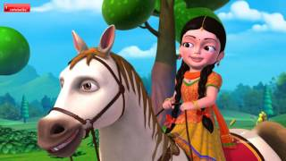 getlinkyoutube.com-Chal Chal Gurram | Telugu Rhymes for Children | Infobells