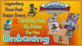 getlinkyoutube.com-Skylanders Superchargers: Legendary Roller Brawl & Birthday Bash Big Bubble Pop Fizz Unboxing