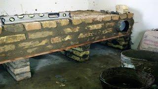 getlinkyoutube.com-((7/8)) Лежанка под ракетную печь-плиту. ROCKET STOVE/ 로켓 스토브