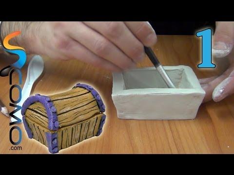 Cómo hacer un joyero con pasta de modelar (1/3)
