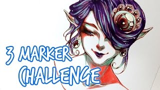 getlinkyoutube.com-3 MARKER CHALLENGE!!!