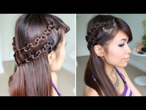 Double Snake Braid Headband Hair Tutorial