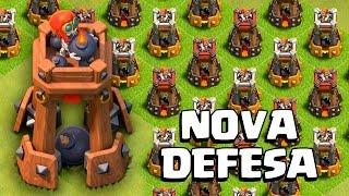 getlinkyoutube.com-NOVA DEFESA: TORRE DE BOMBAS!! ATUALIZAÇÃO CLASH OF CLANS !! APELONA!!