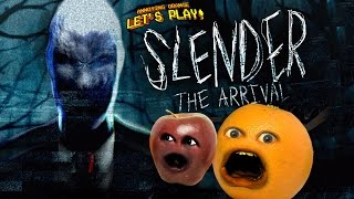 getlinkyoutube.com-Annoying Orange and Midget Apple Play - SLENDER: THE ARRIVAL
