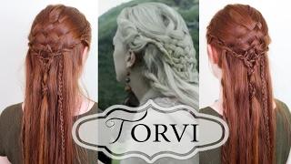 Vikings Hair Tutorial - Torvi's Basketweave Style