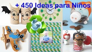 Reciclaje para Niños +450 Ideas / Recycling for Kids +450 Ideas