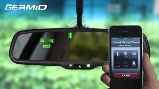 getlinkyoutube.com-EK 043LAB Bluetooth rearview mirror monitor back up camera can support iphone HTC Samsung
