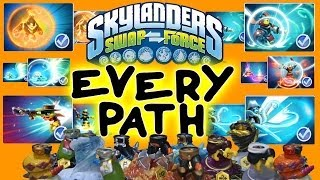 getlinkyoutube.com-All Skylanders Swap Force Upgrade Paths for Wave 1 Bottoms + Max Money Level