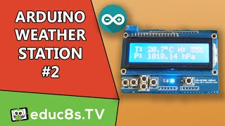 getlinkyoutube.com-Arduino Project: Weather Station #2 using DHT11 and BMP180 barometric pressure sensor LCD 16x2