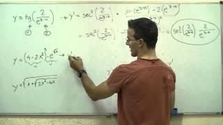 Imagen en miniatura para Derivada de una función 04- Regla de la cadena