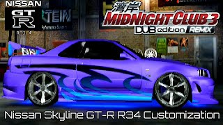 getlinkyoutube.com-Midnight Club 3 DUB Edition - Nissan Skyline GT-R Customization
