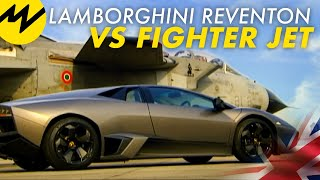 getlinkyoutube.com-Lamborghini Reventon vs Fighter Jet