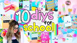 10 DIY School Supplies 2017 | Easy 5 Minute Crafts + Back To School DIY Projects Ideas!