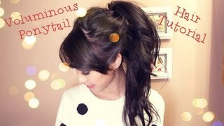 getlinkyoutube.com-Voluminous Ponytail Hair Tutorial