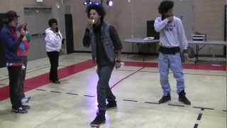 getlinkyoutube.com-Larry from Les Twins KILLIN the beat and a hot dog at the same time!