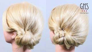 getlinkyoutube.com-時短アレンジ:耳下おだんごヘア セミロング | Time reduction hairstyle