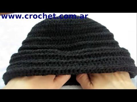 Como tejer un gorro en tejido crochet tutorial paso a paso.