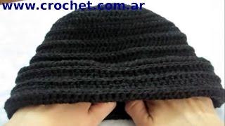 getlinkyoutube.com-Como tejer un gorro en tejido crochet tutorial paso a paso.