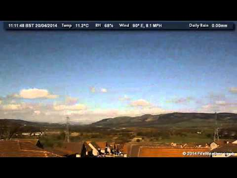 20 April 2014 - WeatherCam Timelapse - FifeWeather.co.uk