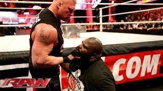 getlinkyoutube.com-Brock Lesnar brawls with Mark Henry: Raw, March 3, 2014