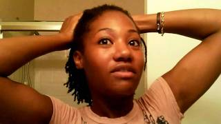 getlinkyoutube.com-Natural Hair- Stretching Mini Twists