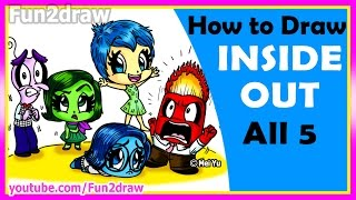 getlinkyoutube.com-AMAZING! How to Draw Inside Out Joy Anger Disgust Sadness Fear - Fun2draw