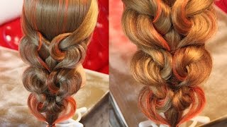 "getlinkyoutube.com-Hairstyle for long hair - Коса с резинками - ""Сердечки"" - Hairstyles by REM"