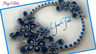getlinkyoutube.com-DIY Crafts: How to make DIY paper quilling greeting card Design - Handmade DIY designs!