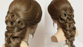 getlinkyoutube.com-Prom bridal hairstyles for long hair tutorial.
