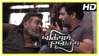 Vikram Vedha Movie Climax | Madhavan and Vijay Sethupathi learn the truth | End Credits