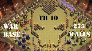 getlinkyoutube.com-CLASH OF CLANS| New Town Hall (TH10) War base - 275 walls