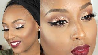 getlinkyoutube.com-Sparkly Holiday Glam Makeup Tutorial | Morphe 35O