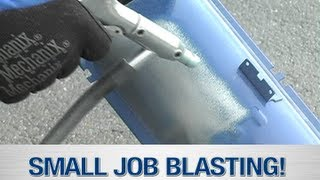 getlinkyoutube.com-Soda Blaster & Media Blaster In Action - The Small Job Blast System from Eastwood