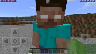 getlinkyoutube.com-I FOUND HEROBRINE in Minecraft Pocket Edition (How To Spawn Herobrine with Mods)