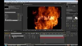 getlinkyoutube.com-Fire Text Reveal: After Effects Tutorial