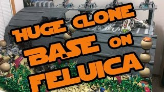 Lego Star Wars Huge Republic Supply Base on Felucia (BIGGEST CLONE BASE YET!)