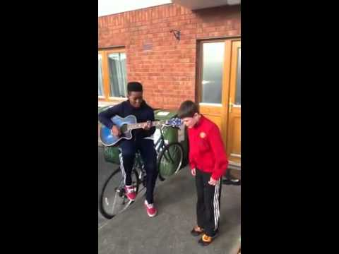 2 Irish Boys Sing We Found Love! Amazing Singers! PLEASE SHARE