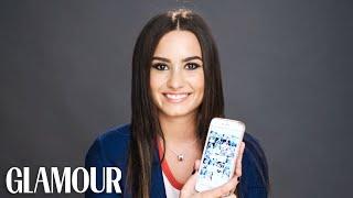 getlinkyoutube.com-Demi Lovato Gets Her Phone Hacked | Glamour