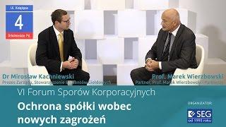 VI Forum Sporów Korporacyjnych: Mirosław Kachniewski i Marek Wierzbowski