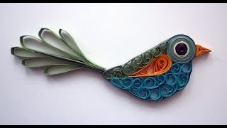 getlinkyoutube.com-Quilled bird - Oiseau quilling - Pájaro rodó papel