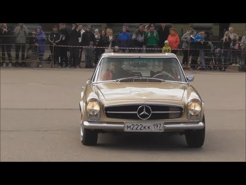 Mercedes-Benz SL 280 (Mercedes-Benz W 113 E), авторалли на старых автомобилях