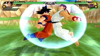 getlinkyoutube.com-Goku and Ryu Fusion | Rikku  DBZ Tenkaichi 3 (MOD)